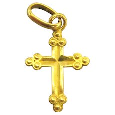 Vintage 10K Yellow Gold Small Cross
