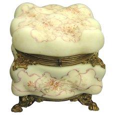 Large Wave Crest Egg Crate Dresser Box with Ormolu