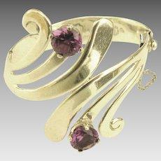 Stunning Signed Vintage Taxco Gemstone Bracelet- Eagle Mark
