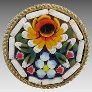 Vintage Italian Micro Mosaic Ring