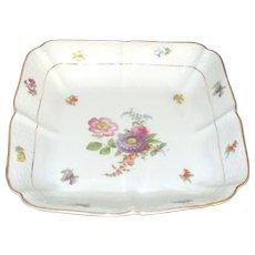 Vintage Meissen Porcelain Serving Bowl with Flowers