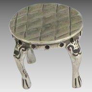 Elegant Vintage Sterling Doll House Miniature Stool or Pedestal
