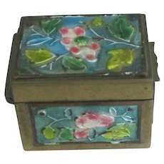 Vintage Early Chinese Champleve Cloisonne Box