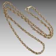 Vintage 12K GF Thick Neck 18 Inch Neck Chain