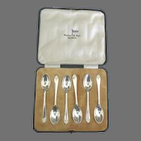 Vintage English Sheffield SP Demitasse Spoons- Set of 6 in Box
