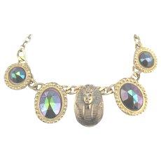 Lovely Vintage Egyptian Theme King Tut Necklace