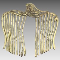 Artistic Brass Ornamental Hair Comb