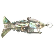 Vintage Articulated Abalone Fish Bottle Opener