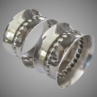 Beautiful Vintage Wallace Sterling Napkin Rings- Set of 2