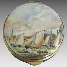 English Staffordshire Royal Thames Yacht Club Porcelain Box
