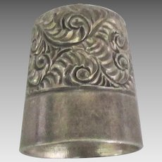 Early 1900's Simon Sterling Repousse Thimble