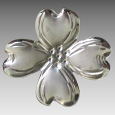 Vintage Beau Sterling Dogwood Brooch