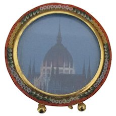 Vintage Italian Micro Mosaic Standing Frame