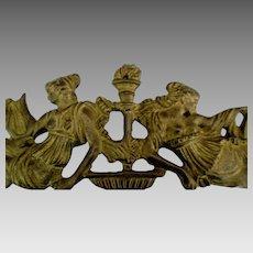 Vintage Brass Grecian Figural Decorative Furniture Hardware