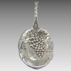 Art Nouveau P&B Sterling Grape Bon Bon Spoon