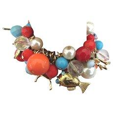 Flirty Loaded Bead Beach Theme Bracelet