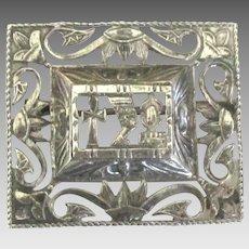 Vintage Ornate Sterling Egyptian Pendant or Brooch