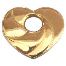Swirled 14K Puffy Heart Slide Pendant - Red Tag Sale Item