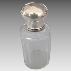 Sterling Top Crystal Vanity Jar