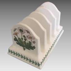 English 1972 Portmeirion Bontanic Garden Toast Holder
