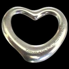 Vintage Tiffany Co Sterling Heart Pendant - Red Tag Sale Item