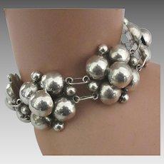 Chunky Vintage Taxco Sterling Bracelet