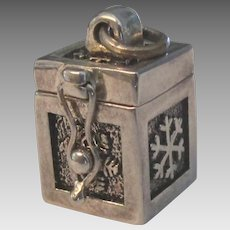 Sterling Prayer Box Pendant or Charm