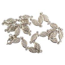 Lovely Italian Milor Sterling Filigree Link Necklace