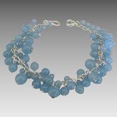 Flirty Sterling Blue Quartz Bead Bracelet