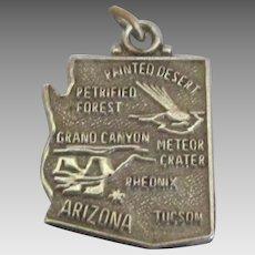 Vintage Sterling Arizona State Charm