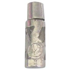 Vintage Sterling Cased Perfume Bottle