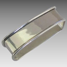 Sleek Vintage Sterling Napkin Ring