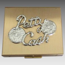 Vintage 1950's Petty Cash Coin Box or Bank