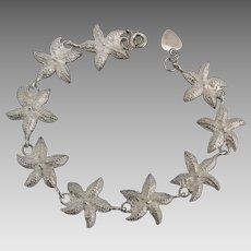Charming Sterling Starfish Link Bracelet