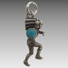 Vintage NA Navajo Sterling Turquoise Indian Charm