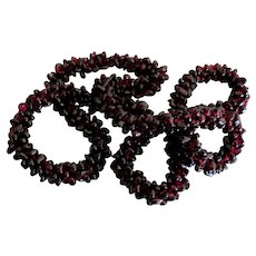 Rhodolite Garnet Gemstone Braided Snake Cord 28 Inch Necklace