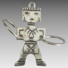 Sterling Navajo Kachina with Medicine Wheels Charm