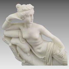 "Vintage Carved Alabaster ""Venus Victorious"""