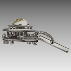 Sterling San Francisco Cable Car Charm Tie Tack