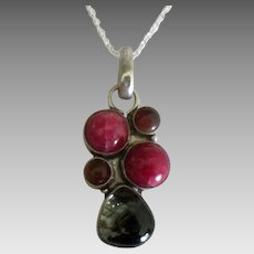 Lovely Gemstone Sterling Pendant and Chain
