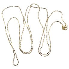 "14K Yellow Gold Brilliant Link 24"" Chain Necklace - Red Tag Sale Item"