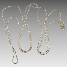 """14K Yellow Gold Brilliant Link 24"""" Chain Necklace"""