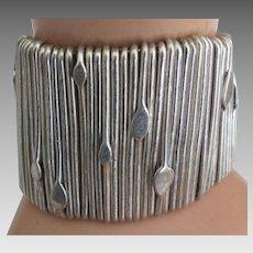 Stunning Wide Sterling Estate Custom Designed Bracelet