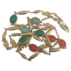 """Stunning Accessocraft of NYC Scarab Sautoir Necklace- 50"""""""