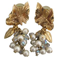 Kirks Folly Dragonfly Dreams Pearl Dangle Pierced Earrings
