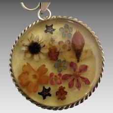 Vintage Sterling Embedded Flowers Bracelet