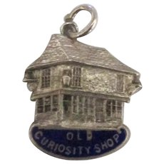 Vintage English Sterling Enamel Old Curiosity Shop Charm
