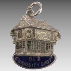 Vintage English Sterling Enamel Old Curiosity Shop Charm