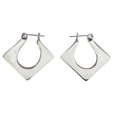 Modernists Sterling Pierced Earrings