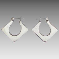 Modernists Sterling Pierced Earrings